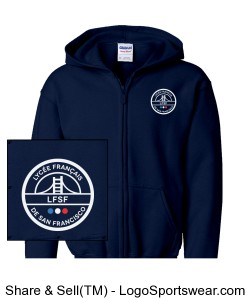 LFSF Pride - Hoody Youth Navy Design Zoom