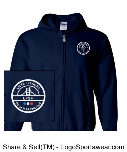 LFSF Pride - Adult Hoody Navy Design Zoom